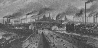 Industrial Sheffield in the 1860s