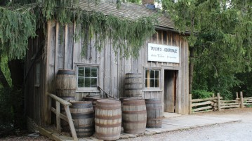 Taylor's Cooperage circa 1850 now at Black Creek Pioneer Village