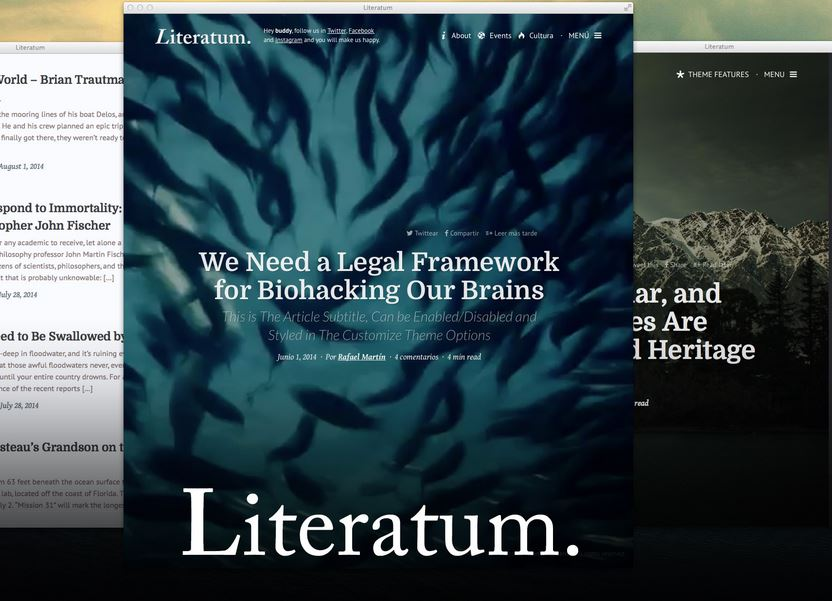 Literatum is a perfect theme for writers