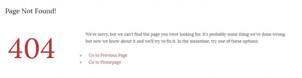 Out of My Tree Genealogy's 404 error page
