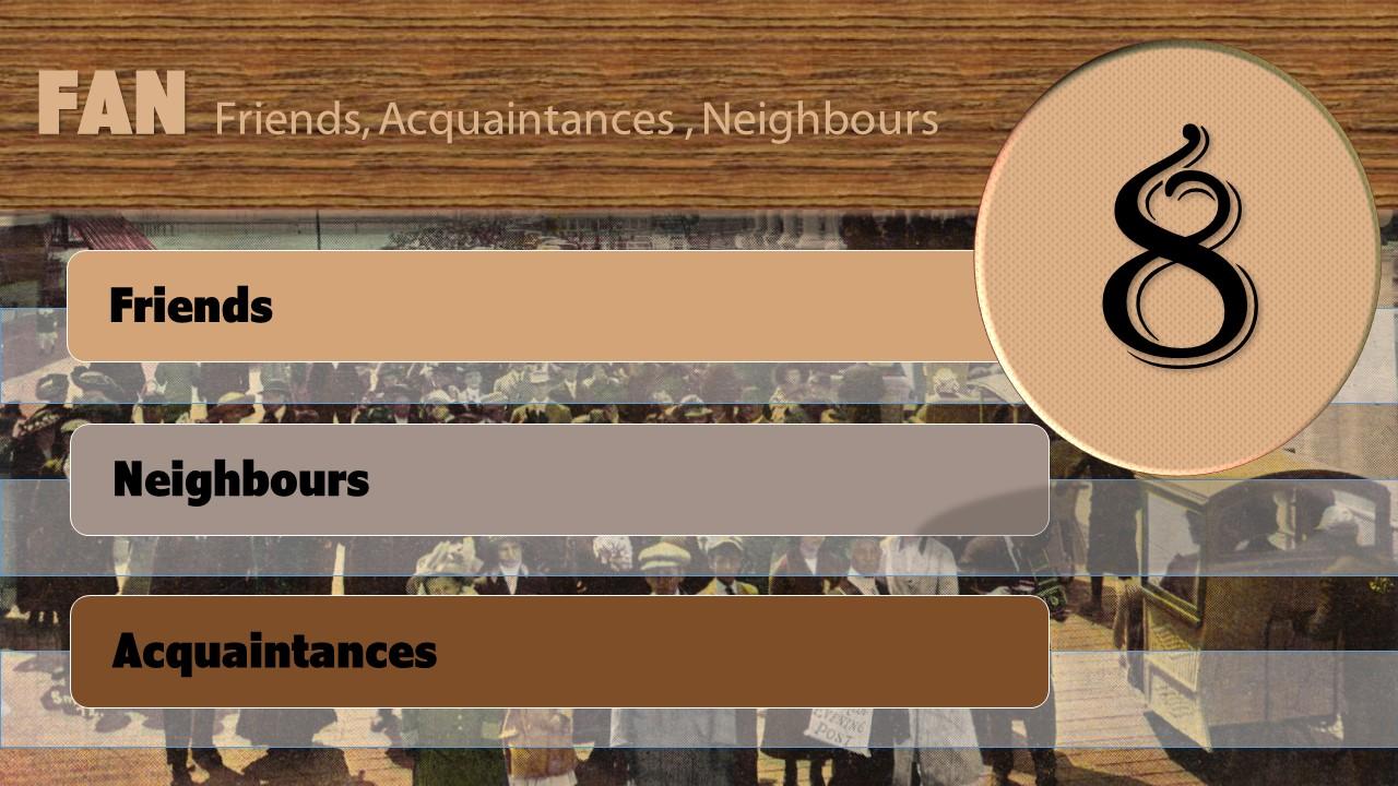Friends, Neighbours and Acquaintances
