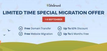 SiteGround: Free Website Migration!