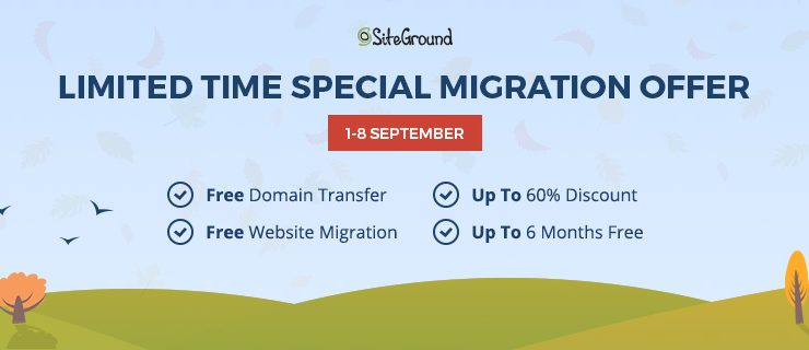SiteGround: Free Website Migration!