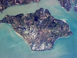 Isle of Wight from the International Space Station
