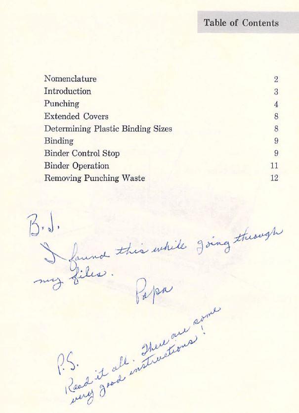 Note from John Daniel Bond to Barbara Starmans c1990