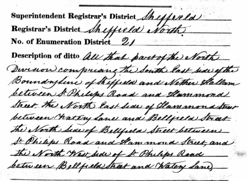1841 census area description
