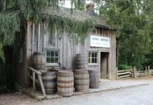 Taylor's Cooperage circa 1850 now at Black Creek Pioneer Village