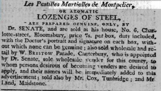 Lozenges Of Steel Advertisement