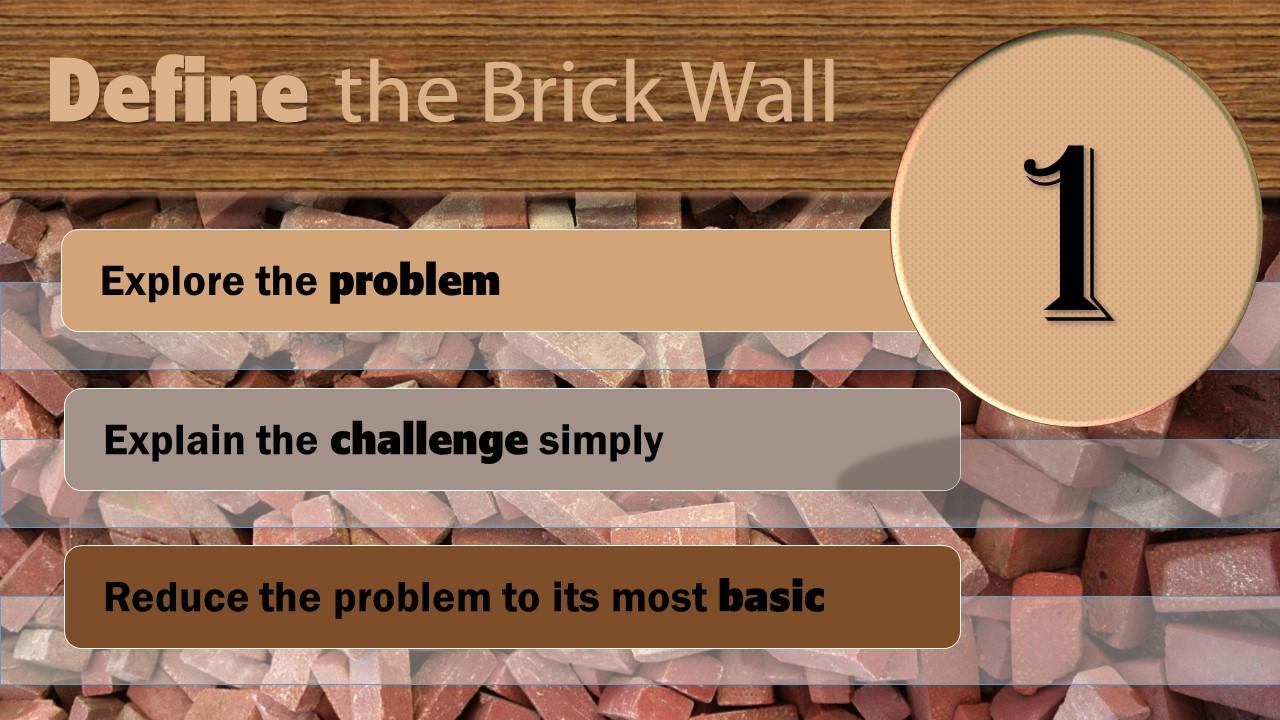 Step One: Define the Brick Wall